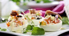 Ricetta di Uova ripiene di insalata di riso #Star #ricette #food #recipes #riso #uova