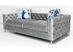 New Deep Inside Out  Sofa in Bristol Elephant Grey Velvet