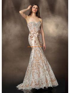 Impression Meerjungfrau Sexy Moderne Brautkleider aus Softnetz mit Applikation