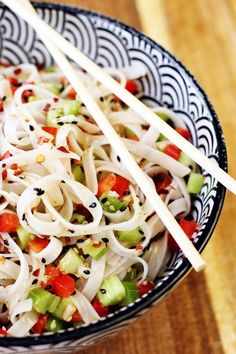 If you can't take the heat, get out the kitchen and make this cool sesame  noodle salad. But actually you'll need to be in the kitchen but it won't be  hot. How's that for a #neat intro into this recipe?...