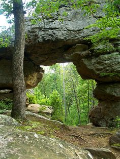 Natural Bridge on Petit Jean in Morrilton, Arkansas
