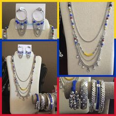 2015-2016 Premier Designs Collection. Jess Necklace and earrings.