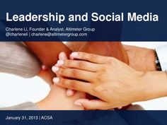 social-business-strategies-webinar-with-charlene-li-and-brian-solis by Altimeter Group Network on SlideShare via Slideshare Social Business, Leadership, Social Media, Education, Group, Organizations, Public, Community, Blog