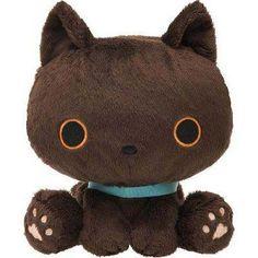 kawaii brown Kutusita Nyanko cat with neckband plush toy