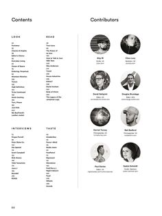 #ClippedOnIssuu from Highsnobiety Magazine 09 - Winter 2014 - Contents page - very clear and easy to read, interesting how far in the contents page is, on page 22 of 260 - https://issuu.com/highsnobiety/docs/highsnobiety-issue-09