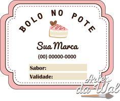 Etiqueta para bolo no pote *Impressa em alta qualidade em papel adesivo; * As cores e textos podem ser alterados de acordo com a sua preferência. * Tamanho: 6 cm x 4,70 cm O prazo de produção se inicia após a aprovação da arte. - ADB2FB