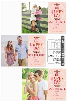free photo save the date cards | CHECK OUT MORE IDEAS AT WEDDINGPINS.NET | #printableweddingtemplates