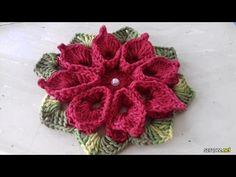 Flor Para Aplicação # Flor em Crochê para Aplicação # Cristina Coelho Alves - YouTube