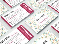 So excited to share these beautiful, double-sided, business card designs that we completed last week for our friends at Agnes & Dora by Christina Suarez! These business cards feature two different designs for the front of the cards as well as a punch card feature for purchases. We love the way they turned out and can't wait for them to receive their new cards! <3 Agnes & Dora features cute, comfortable clothing in gorgeous colors and patterns. Learn more at…