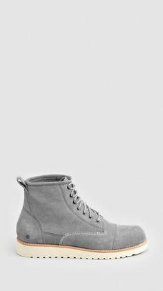 THE EDMUND BOOT GREY SUEDE