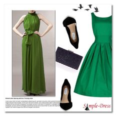 """""""SimpleDress 22"""" by goldenhour ❤ liked on Polyvore featuring Steve Madden, Jayson Home, vintage and simpledress"""