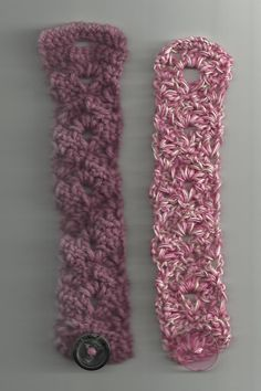 Treasures Made From Yarn: Lacy Fan Bracelet... Free pattern!