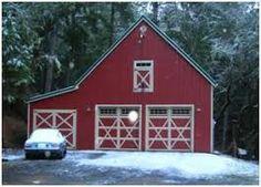 Image result for pole barn style garage plans