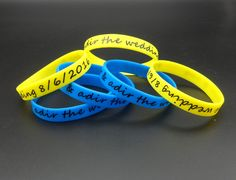 custom personlized logo silicone bracelets