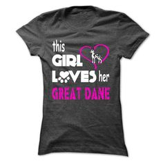 This Girl Loves Her Great Dane - K01 - #tshirt no sew #monogrammed sweatshirt. CHECKOUT => https://www.sunfrog.com/Pets/This-Girl-Loves-Her-Great-Dane--K01-DarkGrey-Ladies.html?68278