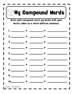 Printables Compound Words Worksheets 2nd Grade compound words worksheets for different lessons english arab a worksheet like this could be used students to break down and put them together its helpful see the tw