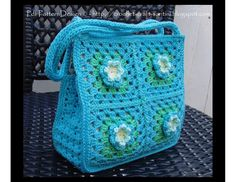 Granny Square Bag-Purse Crochet Pattern with flowers - for little and big girls. Description from pinterest.com. I searched for this on bing.com/images