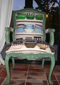 Bonitas telas para tapizar las sillas del comedor.