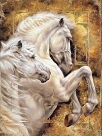 abstract horse paintings horses painting arts fine ------- I own this painting too.
