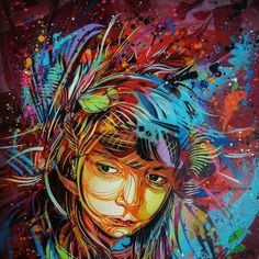C215  such a lively painting/mural. It is almost ethereal.