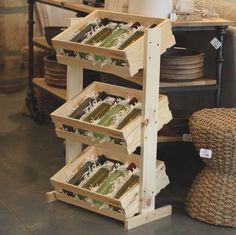 Crates and Pallet Large Tiered Crate Stand is perfect for displaying different flavors, sizes of products, or just great vertical display space to save room on the floor.