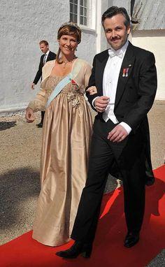 Joachim & Marie wedding 2008; A pregnant Princess Martha Louise and husband Ari Behn