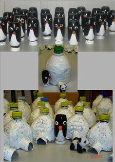 Igloo and penguin Polo Norte, Igloo Craft, Everest Vbs, Polar Animals, Winter Crafts For Kids, Pet Bottle, Winter Art, Winter Activities, Plastic Bottles