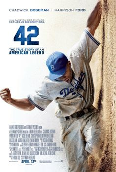 42 is the amazing true story of Jackie Robinson. This powerful story of perseverance and struggle is in theatres now! Don't miss out!