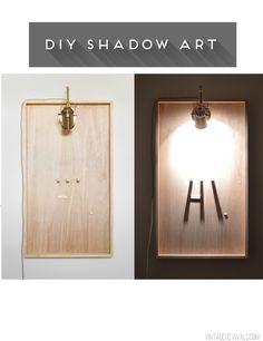 DIY Shadow Art