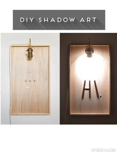 DIY Shadow Art + Video