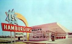 Rico Petrocelli for Kelly's Hamburgers New London, Ocean Beach, Vintage Photos, Vintage Stuff, Historical Photos, Childhood Memories, Florida, Hamburgers, History