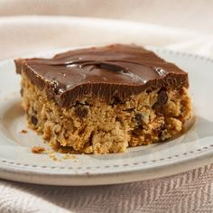 No-Bake Chocolate Peanut Butter Bars are simple to make! Just beat, melt, stir and refrigerate. You'll have a delicious treat!