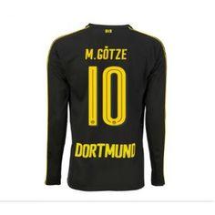 BVB 16-17 Mario Gotze 10 Udebane Trøje Langærmet.  http://www.fodboldsports.com/bvb-16-17-mario-gotze-10-udebane-troje-langermet.  #fodboldtrøjer