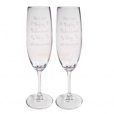 Personalised Valentines Day Flutes  from Personalised Gifts Shop - ONLY £19.55