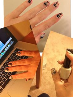Burberry nail design by me