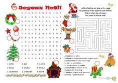 Jeux de Noël fiche d'exercices - Fiches pédagogiques gratuites FLE