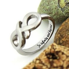 """Infinity Ring Promise Ring Infinity Symbol Ring""""To Infinity and Beyond"""