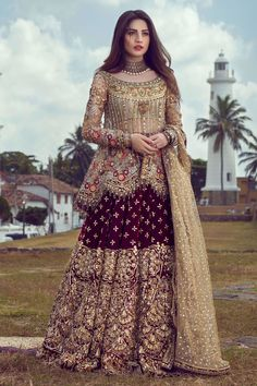 We offer latest high fashion women's Dresses. It includes Bridals dresses, Ready to Wear, Casual & many more. Pakistani Bridal Dresses Online, Indian Fashion Dresses, Pakistani Bridal Wear, Pakistani Wedding Dresses, Pakistani Dress Design, Pakistani Outfits, Pakistani Sharara, Walima, Pakistani Designers