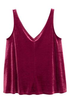 Velvet tank top | H&M