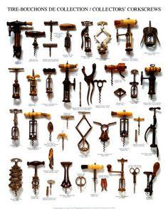 variety of corkscrews