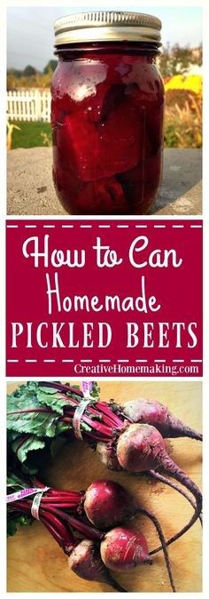 Easy recipe for making and canning traditional pickled beets.