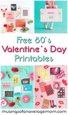 80s themed Valentine's Day ideas and free printables!