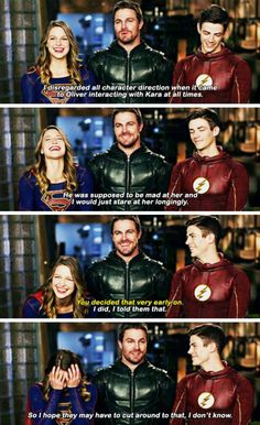 Stephen, Melissa & Grant - EW Cover: CW superheroes cover! #Arrow #TheFlash #Supergirl #LegendsofTomorrow