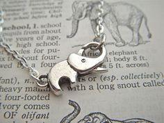 Tiny Silver Elephant Bracelet Silver Tone Metal by CosmicFirefly, $15.00