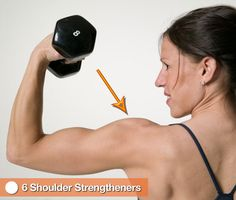 6 Shoulder Strengtheners: Sculpted, strong shoulders not only look sexy, but they can also prevent injury. Here are six exercises to strengthen and increase flexibility in this area.