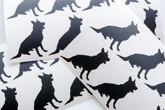 20 German Shepherd stickers dog silhouette vinyl decal dog