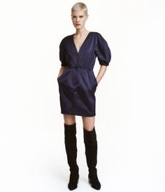 Korte jurk | Donkerblauw | Dames | H&M NL