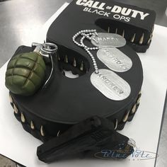 Call of duty black ops 5th birthday cake.