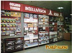Coleco Vision, Intellivision, Atari retail display
