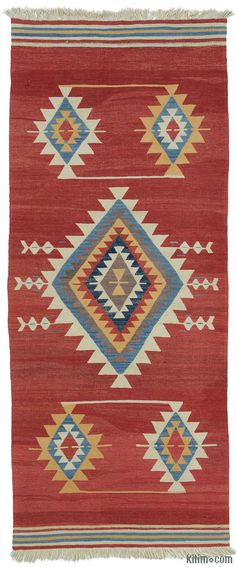 K0004367 New Turkish Kilim Runner | Kilim Rugs, Overdyed Vintage Rugs, Hand-made Turkish Rugs, Patchwork Carpets by Kilim.com